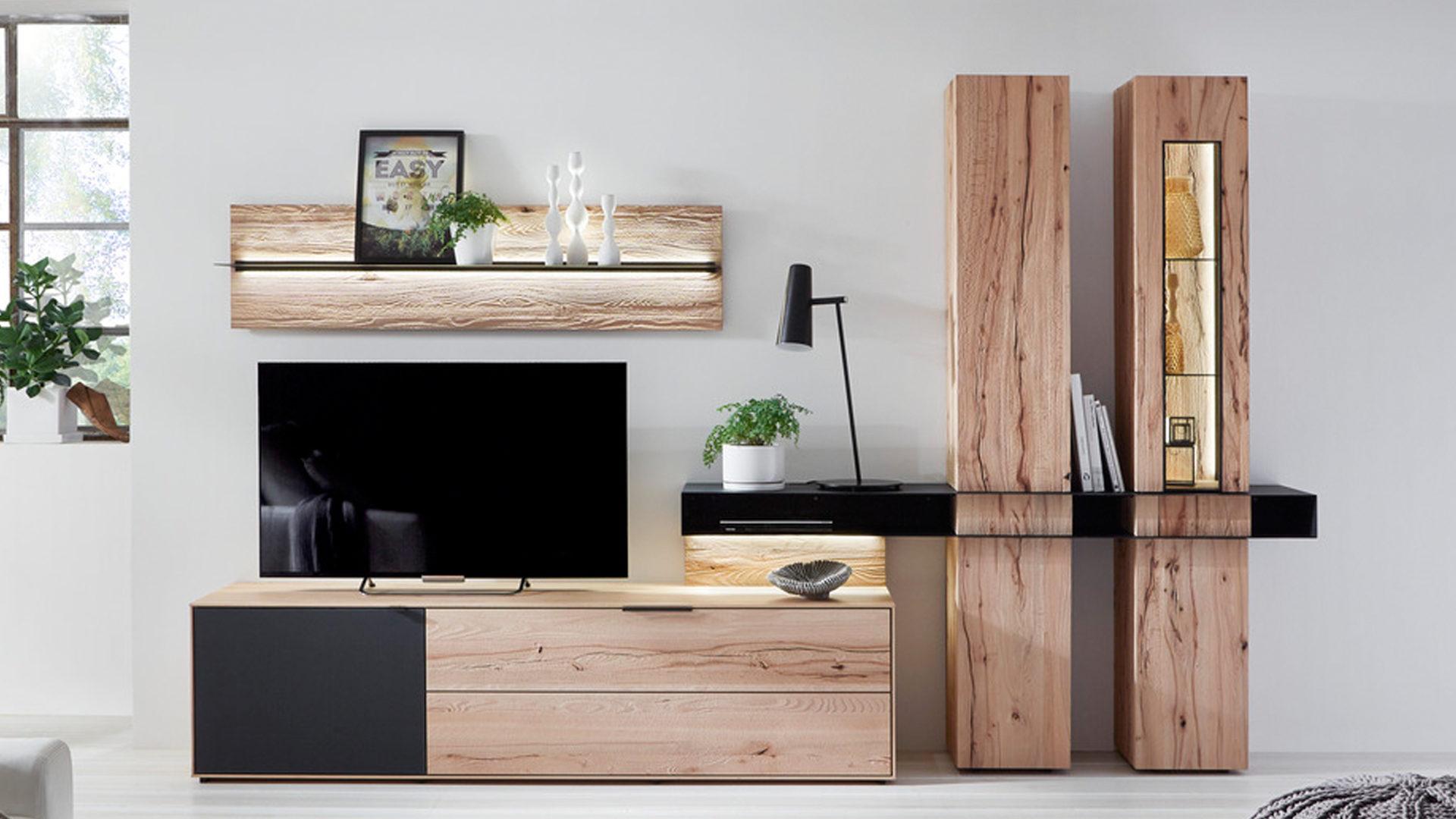 Wohnwande Holz Zuhause