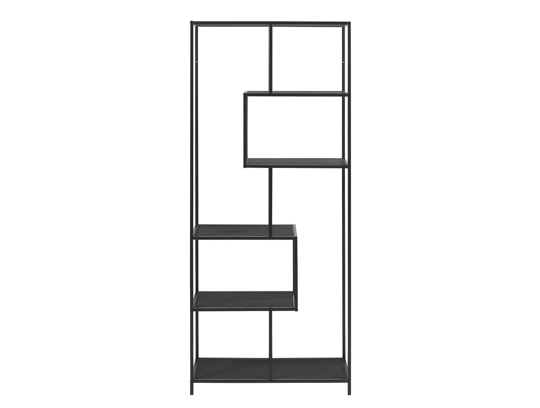 affordable trop gmbh rume wohnzimmer regale raumteiler bcherregal bcherregal bden wildeiche nachbildung gestell metall in schwarz with wildeiche nachbildung