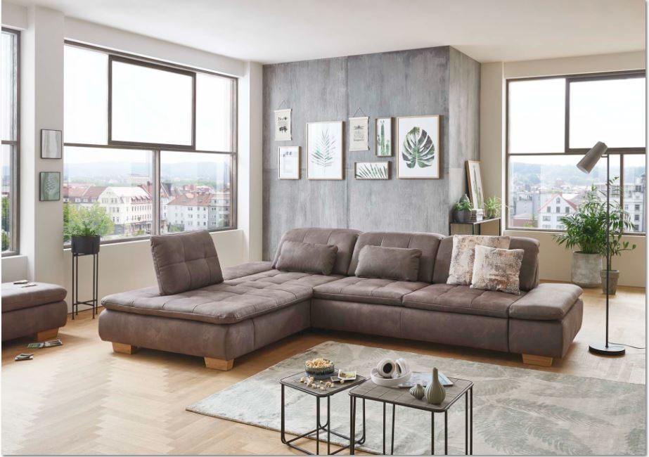 Trop Möbelabholmarkt GmbH, Räume, Wohnzimmer, Sofas + Couches, Sitzecke,  Sitzecke, Stoffbezug In Mammut Nougat