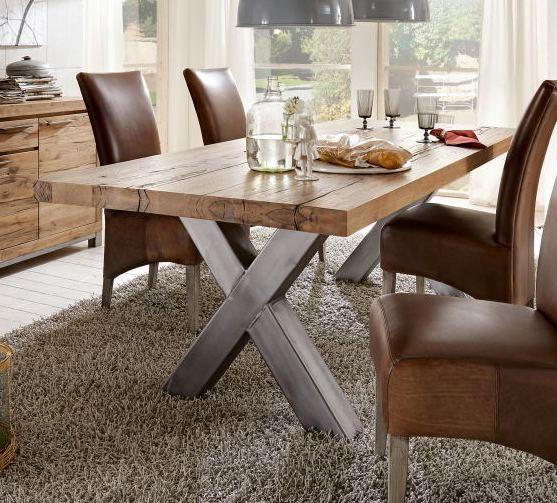 Trop Möbelabholmarkt GmbH, Markenshops, Woods U0026 Trends , Tisch, Tisch Wales  220 X 100 Cm, Wildeiche Massiv Naturfarben