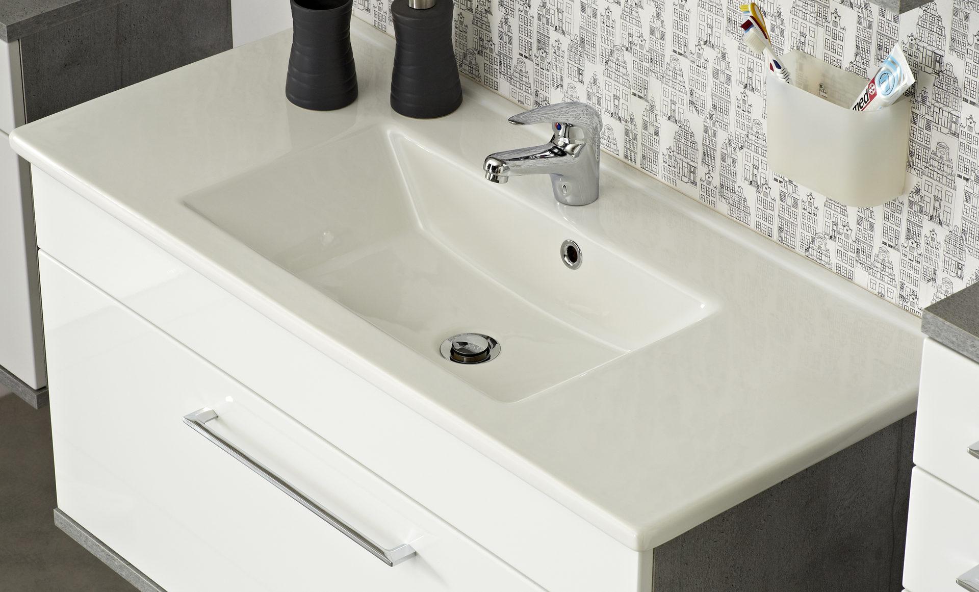 Keramik Waschtisch Weiß Fresh Line Grey