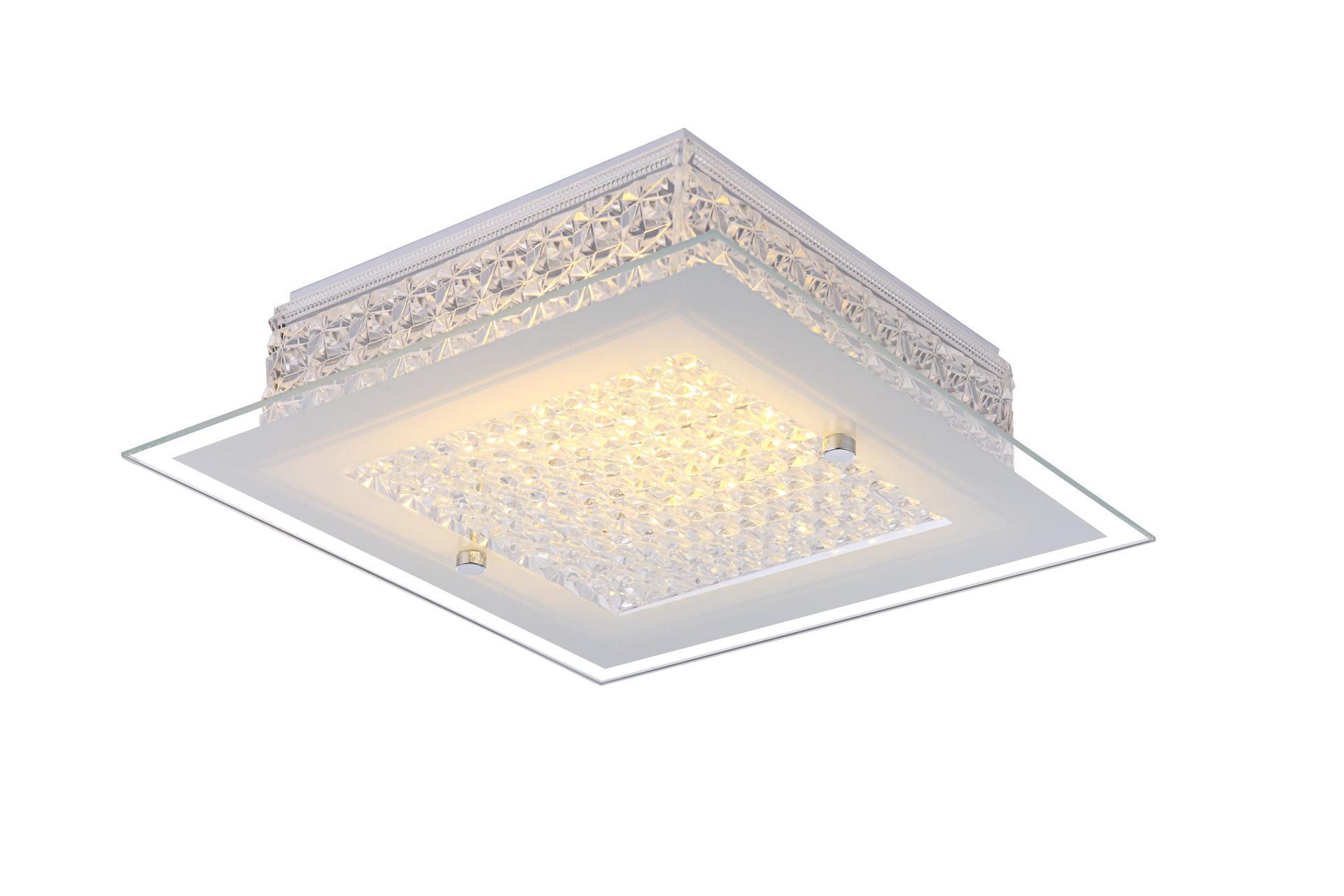 Trop Möbelabholmarkt GmbH, Räume, Schlafzimmer, Lampen + Leuchten,  Deckenleuchte, Deckenleuchte, 1 Flg. Chrom, Weiß